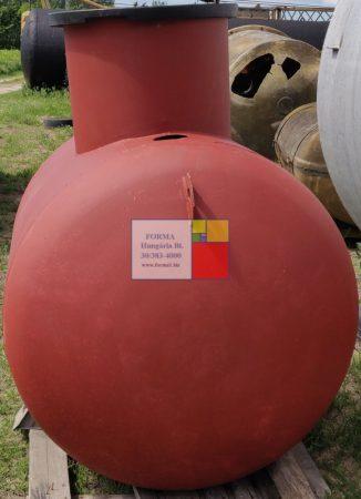 3,2 m3-es fekvő hengeres vastartály - könnyített kivitel - B;