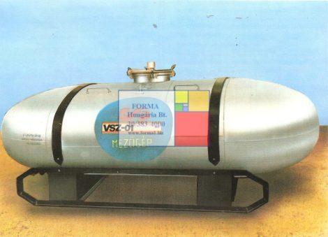 5 m3-es fekvő lencse alakú alumínium tartály - több db - R5;