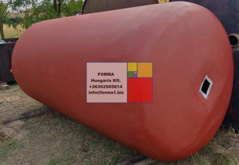 10 m3-es álló ( fekvő ) hengeres alumínium tartály - azonosító : I/AL-1301