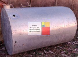2 m3-es alumínium hordó / tartály - azonosító: IH-AL-331