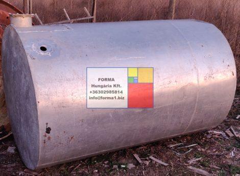 2 m3-es alumínium hordó / tartály;