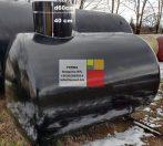 35 m3-es, ~ 35000 literes,  fekvő, hengeres alumínium tartály - azonosító: I/AL-30001