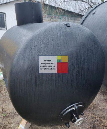 6,5 m3-es, ~ 6500 literes,  fekvő, hengeres alumínium tartály - R1;