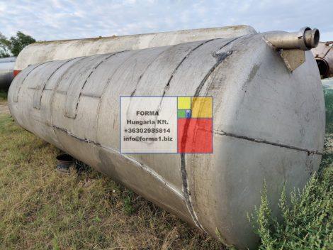 7 m3-es, ~ 7000 literes,  fekvő, hengeres alumínium tartály - R1;