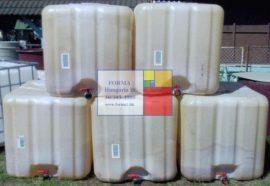 Használt IBC ballon, 1000 liter, minőség csökkent - több db! - azonosító: IH-10