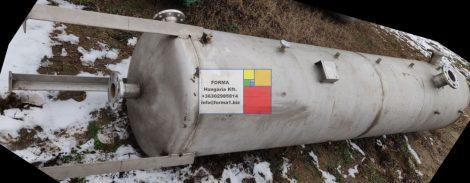 1 m3-es álló hengeres rozsdamentes tartály , duplafal - hőszigetelt -R1;