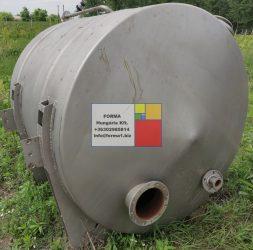 3 m3-es rozsdamentes saválló ( inox ) acéltartály, azonosító.:  IH-1001