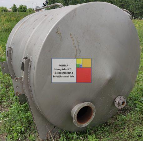 2 m3-es rozsdamentes saválló ( inox ) acéltartály - ÚJ - azonosító.:  IH-2631 - 2 db