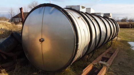 30 m3-es fekvő hengeres rozsdamentes acél - inox - krómacél - tartály - azonosító: K-4966