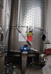 22 m3-es rozsdamentes saválló ( inox ) hűthető-fűthető - KEVERŐS - állóhengeres rozsdamentes acél erjesztő tartály,  2 db, azonosító.:  K-11600