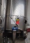 22 m3-es rozsdamentes saválló ( inox ) hűthető-fűthető - KEVERŐS - állóhengeres rozsdamentes acél erjesztő tartály,  2 db;