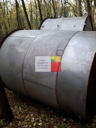 5 m3-es állóhengeres rozsdamentes -INOX - KO - RM - acéltartály - azonosító:  IH-50/830