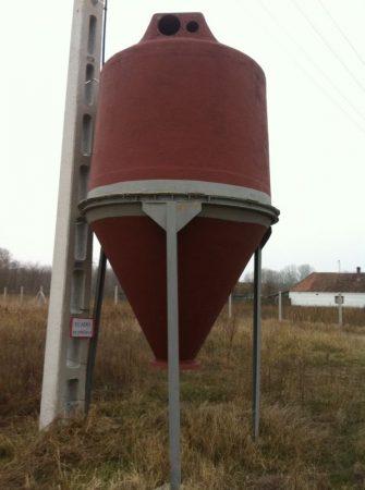 10 m3 - es poliészter - üvegszálas műanyag tartály - siló - több db - azonosító: IH-665