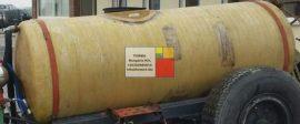 2 m3-es üvegszálas műanyag szállító tartály, fekvő henger - 2 db  - akár  földbe is süllyeszthető - azonosító: IH-