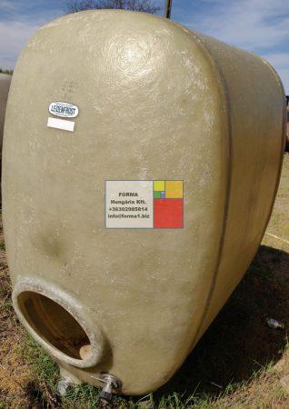 2 m3-es ÁLLÓ LENCSE / TOJÁS alakú üvegszálas műanyag tároló tartály  - akár  földbe is süllyeszthető - R1;