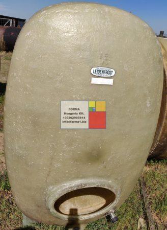 4 m3-es ÁLLÓ LENCSE / TOJÁS alakú üvegszálas műanyag tároló tartály  - akár  földbe is süllyeszthető - R1;