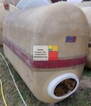 2,1  m3-es ÁLLÓ LENCSE / TOJÁS alakú üvegszálas műanyag tároló tartály  - akár  földbe is süllyeszthető - R2;