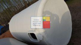10 m3-es álló hengeres  poliészter - üvegszálas műanyag tartály - azonosító I-1300