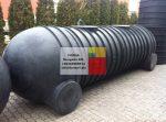 7,5 m3-es fekvő hengeres PE. ( polietilén) műanyag tároló tartály - R1;