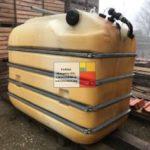 5 m3 - es fekvő hengeres poliészter - üvegszálas műanyag tartály, több db. - azonosító : IH-ÜSZ/500