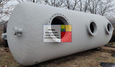 30 m3-es, fekvő hengeres poliészter - üvegszálas műanyag tartály -több db - R3;