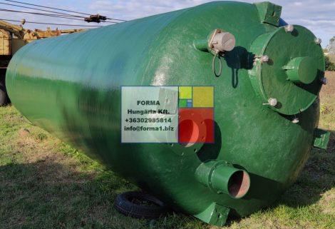 18,5 m3-es álló hengeres, poliészter - üvegszálas műanyag tartály - SILÓ- több db - R9;