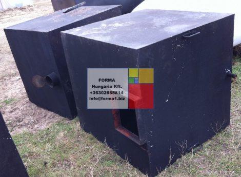 1  m3-es szögletes vastartály - több db - R2;