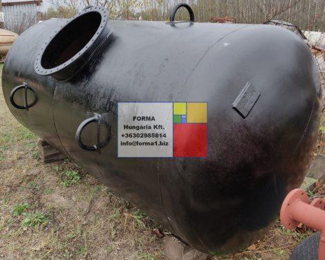 4 m3-es használt fekvőhengeres vastartály - R2;