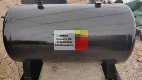 1,1 m3-es álló /fekvő hengeres, vastag falú, nyomásálló vastartály - R1;