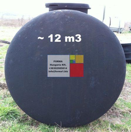 11 m3-es használt, felújított, fekvő hengeres acéltartály - 1 db;