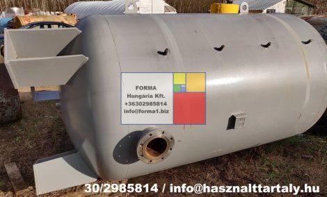 6 m3-es használt, felújított fekvő hengeres acéltartály;