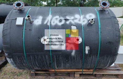 5 m3-es használt, újszerű, álló hengeres acéltartály - R1;