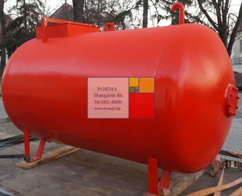 3 m3-es, fekvő, hengeres vas szállító tartály - több db;