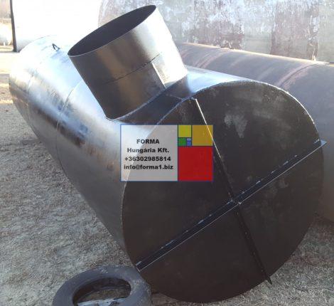 3,15 m3-es, álló - nyomásálló - hengeres vastartály - több db;