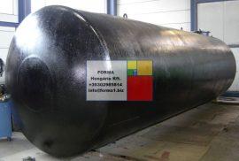 30 m3-es fekvő hengeres acéltartály - több db - azonosító IH-2200