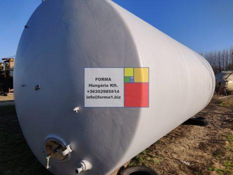 47 m3-es használt, felújított, fekvőhengeres acéltartály - élelmiszeres - R1;