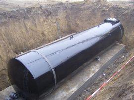 100 m3-es használt, felújított fekvő hengeres vas / acél tartály